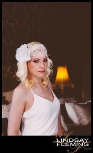 Eliana - Velvet Rose and Lace Headdress